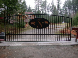 This gate system is on a heated slab near the pass