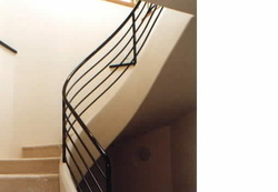 Spiral tube handrailings