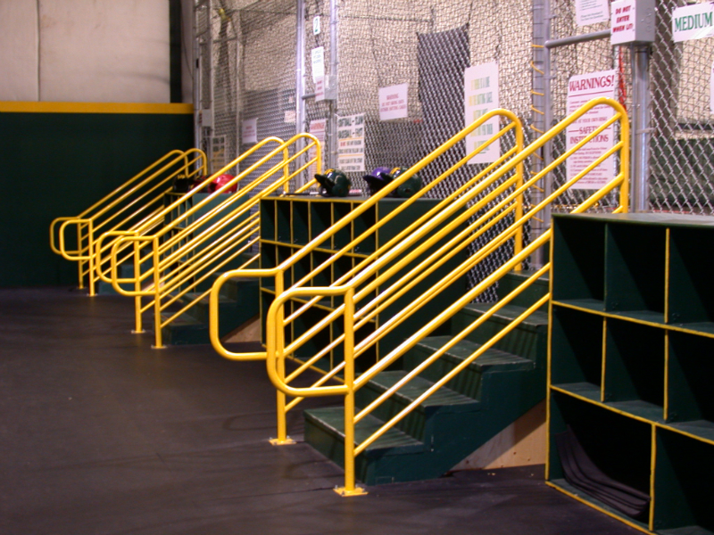 Batting cage railings